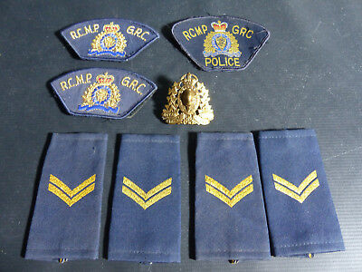 Vintage Police Patches & Badges Lot Of 8