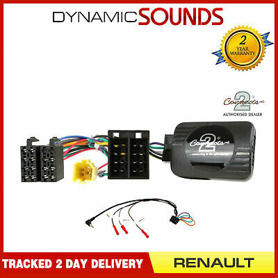 DS-RN005 Steering Stalk Control Adaptor + FREE Patch Lead For Renault Clio 2005>