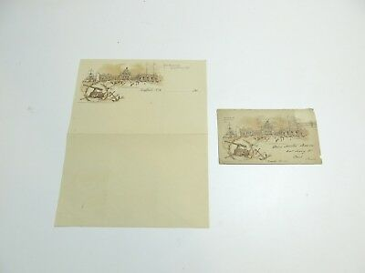 Scarce 1901 Pan American Exposition Envelope Cover And Letterhead