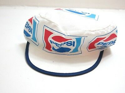 Vintage Pepsi Advertising Trucker Style Hat Cap One Size Fits All ~ Paper Like