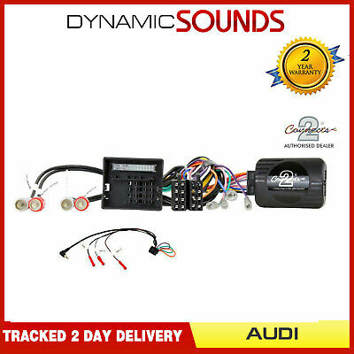 DS-AD002 Steering Wheel Stalk Control Adaptor FREE PATCH LEAD For AUDI A3, A4