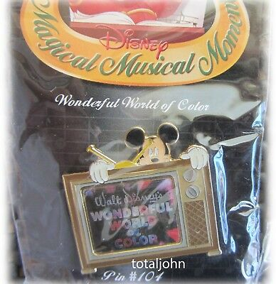 Disney Magical Musical Moments Wonderful World Of Color #104 Pin