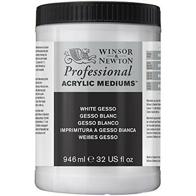 Winsor & Newton 3054920 Professional Acrylic Medium White Gesso, 946ml - Gesso
