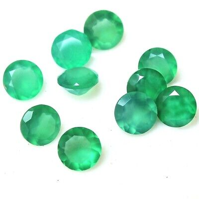 Wholesale Lot of 6mm Round Facet Natural Green Onyx Loose Calibrated Gemstone