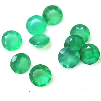 Wholesale Lot of 6x6mm Round Facet Natural Green Onyx Loose Calibrated Gemstone
