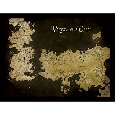 Pyramid International Game Of Thrones (westeros And Essos Antique Map) Framed -