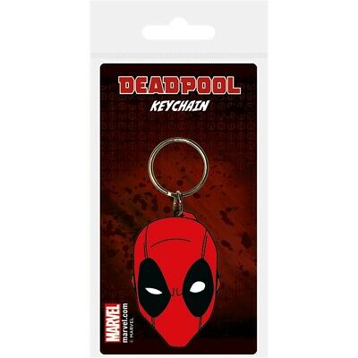 Pyramid International Deadpool Face Rubber Keychain, Multi-colour, 4.5 x 6cm -