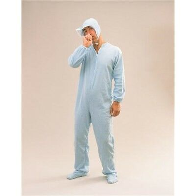 Blue Adult Baby Sleepsuit Costume - Fancy Dress Stag Outfit