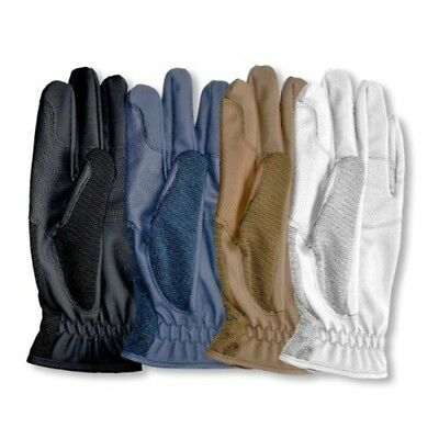 Mark Todd Super Riding Gloves - Size : Child 10 - 12 Yrs - Colour : Brown -