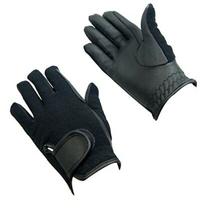 Bitz Synthetic Winter Gloves Child Black Large Horse Riding Wear - Size Rider