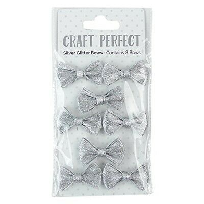 Craft Perfect By Tonic Studios Craft Perfect, Silver Glitter Bows