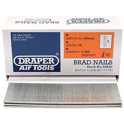 Draper 59830 Aan40 Basic_replenishmentad Nails 40mm - Brad 5000