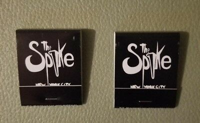 Vintage Gay Men's NYC Leather Bar Matchbook Matches -The SPIKE-1970s-80s-2 books