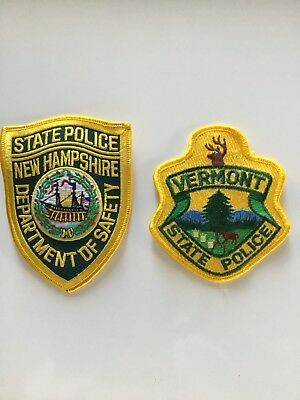 New Hampshire & Vermont State Police Patches