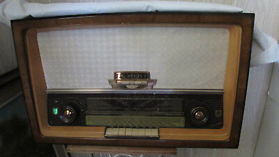 Philips Radio/Stereo Germany Made Capella 663 1960's Vintage Cabinet /dust cover