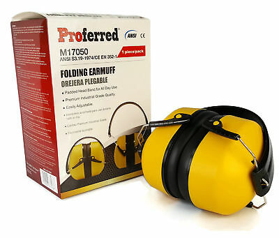 Noise Cancelling Protective Earmuff - Folding Hearing Protection Ear Muffs