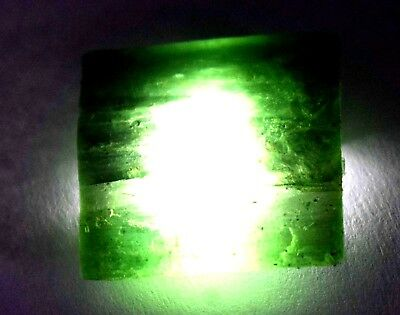 48.00 Ct Natural Translucent Green Serpentine Earth Mined Facet Slab Rough