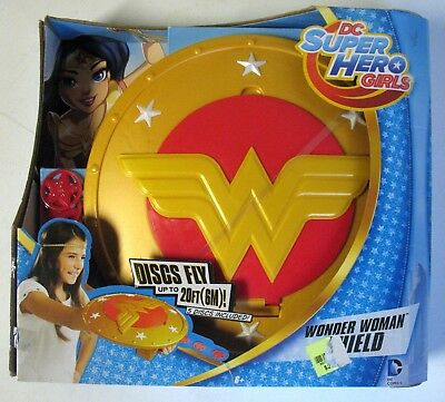 NEW SEALED MISB DC Super Hero Girls Wonder Woman Shield Discs FLY by MATTEL