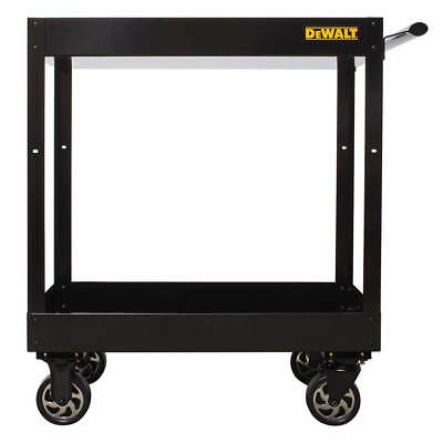 DeWALT DWMT78086 Black Heavy Duty Steel Ergonomic Basic Utility Storage Cart
