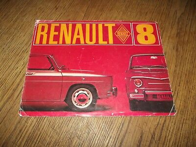 Catalogue Renault 8 1969.