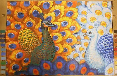 EXOTIC PEACOCKS - Tapestry/Needlepoint Canvas (NEW) by GRAFITEC