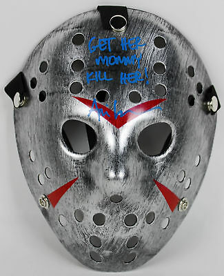 """Ari Lehman """"Get Her Mommy"""" Authentic Signed Friday the 13th Jason Mask PSA ITP 1"""