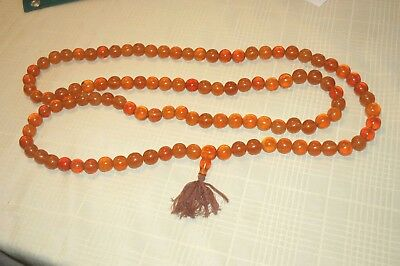 Amber Bakelite Faturan Prayer Necklace ANTIQUE LARGE 546 Grams Ottoman