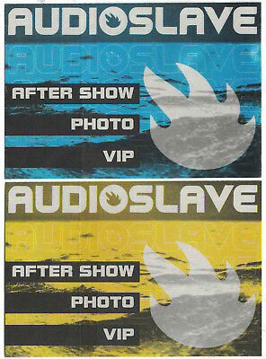 Audioslave-Soundgarden/rage Tour Backstage Pass -Vip/photo/working! Set Of 2!