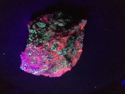Large Purple Passion Mine Rock Mineral 1 3/4 Lb Fluorescent Red Long Wave UV