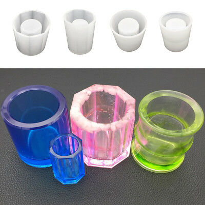 Pen Container Silicone Resin Mold Brush Pot Jewelry Moulds DIY Craft Tools