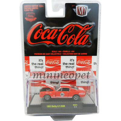 M2 MACHINES 52500 COCA COLA COKE 1965 SHELBY MUSTANG GT 350R 1/64 RED Black Card