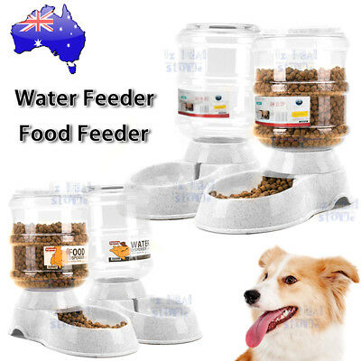 3.8/11L Automatic Pet Dog Cat Water Bowl Food Feeder Bottle Dispenser Plastic