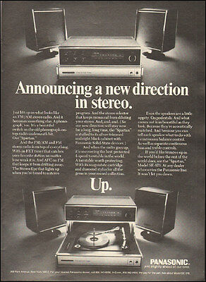 1970 Vintage ad for Panasonic Stereo Radio  Photo (091616)