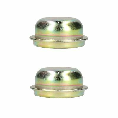 Replacement 50.5mm Metal Cap Wheel Hub Trailer Bearing Dust Cover 2 PACK