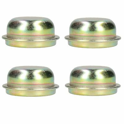 Replacement 50.5mm Metal Cap Wheel Hub Trailer Bearing Dust Cover 4 PACK