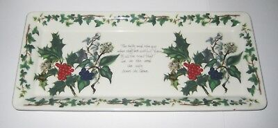 PORTMEIRION Holly and the Ivy rectangle shaped serving dish plate