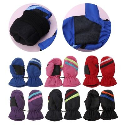 2-5y Baby Mitten Winter Kids Boys Girls Outdoor Warm Gloves Windproof Waterproof