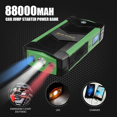 82800mAh Emergency Car Jump Starter Booster 4 USB Power Bank Battery Charger 12V