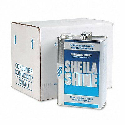Sheila Shine Stainless Steel Cleaner & Polish - Gallon Can  (Pack of 4) - Silver