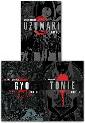 Junji Ito Collection 3 Books Set Pack Tomie Uzumaki Gyo, No Use Escaping | Junji