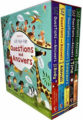 Usborne Lift the flap Questions and Answers 5 Books Box Set Colle | Katie Daynes