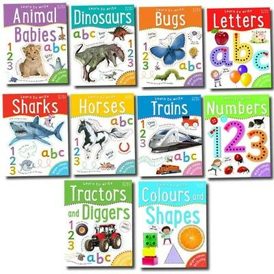 Miles Kelly Wipe Clean Learn To Write 10 Books Collection Set With | Miles Kelly