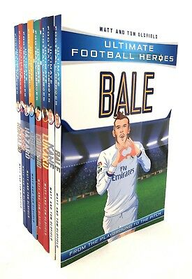 Ultimate Football Heroes 8 Books Set Collection Pack Mess | Matt & Tom Oldfield
