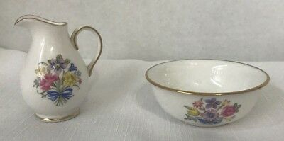 Spode Fine Bone China - Miniature Cream Pitcher & Sugar Bowl
