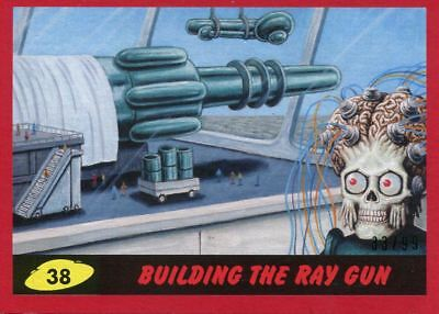 Mars Attacks The Revenge Red [99] Base Card #38 Building the Ray Gun