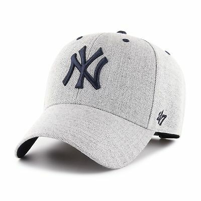 MLB New York NY Yankees Cap Basecap Baseballcap MVP 47 Storm Cloud charcoal