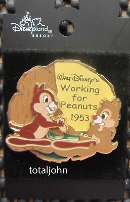 Disney History of Art - Working for Peanuts 1953 Chip & Dale 3D Pin