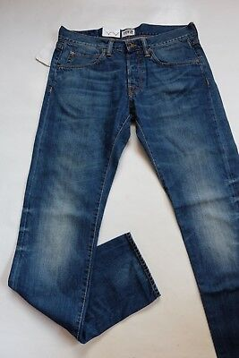 JEANS EDWIN ED 55 RELAXED TAPERED white listed- blue mid slush TAILLE W34 L34