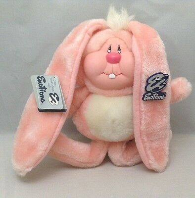 "Vintage Mattel Emotions Plush Bunny Rabbit ""Love Buns"" Some Bunny Loves You NWT"