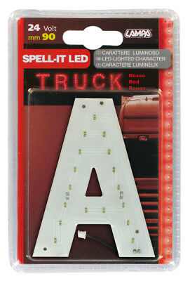 Spell-It Led, 90 Mm, 24V - Rosso - A